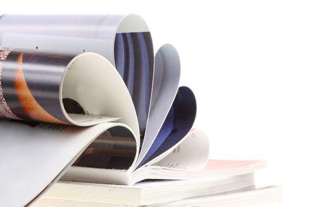 Colour illustrated magazine . white background. Isolated. photo