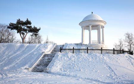 rotunda: Winter city landscape with rotunda