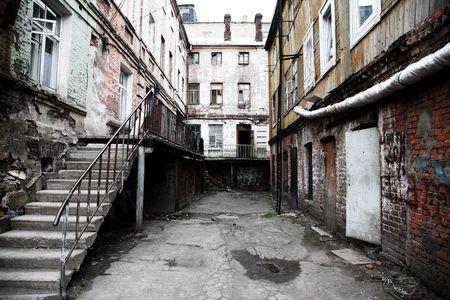slums: Old court yard