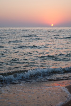 Beautiful dawn on seacoast photo