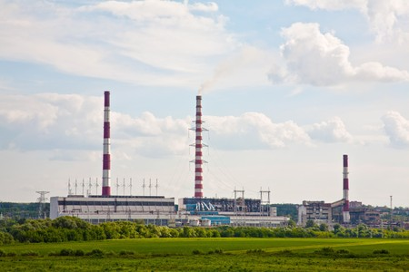 Thermal power station. Power. The industry. Ecology. Stock Photo - 7922758