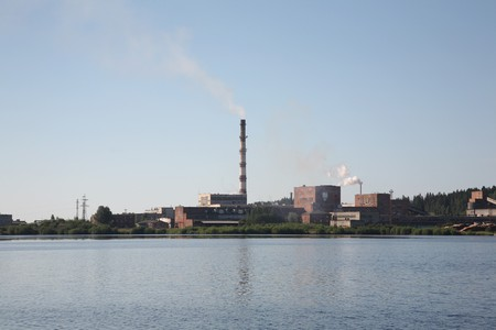 Thermal power station. Power. The industry. Ecology. Stock Photo - 7922775