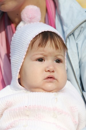 Portrait close up of the baby on walk. Stock Photo - 8094362