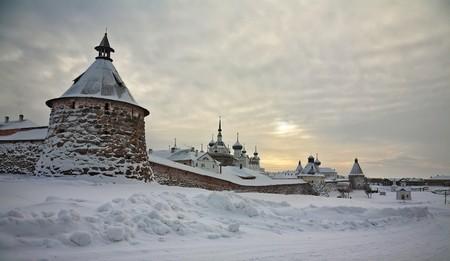 monasteri: Genere sul monastero Soloveckie. Russia.