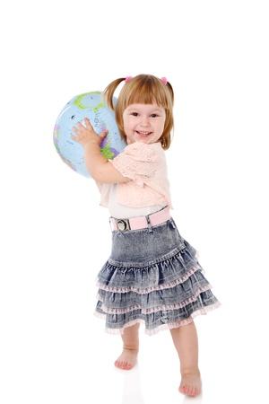 madre terra: bambina ha il controllo su madre terra