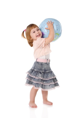 mother earth: little girl has control over mother Earth Stock Photo