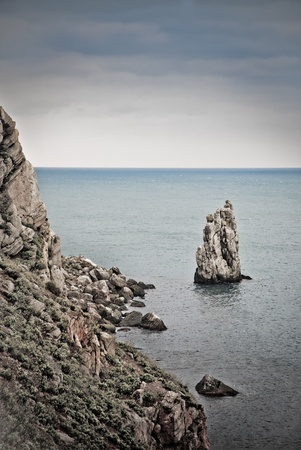 Sea landscape with rocks photo