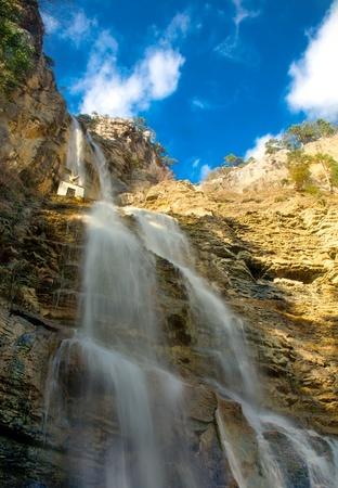 waterfalls in mountains. Stock Photo - 9302472