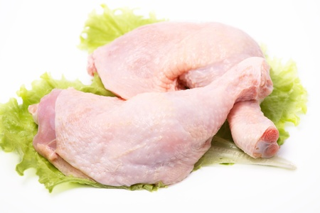 Leg of a chicken - of a broiler Stock Photo - 9302460