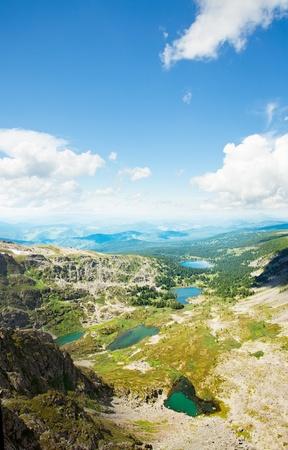 Top view of Karakol lakes in Altai mountains. Altai, Suberia photo