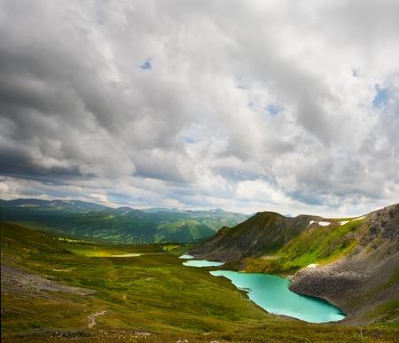 Top view of Karakol lakes in Altai mountains. Altai, Suberia Stock Photo - 10671185