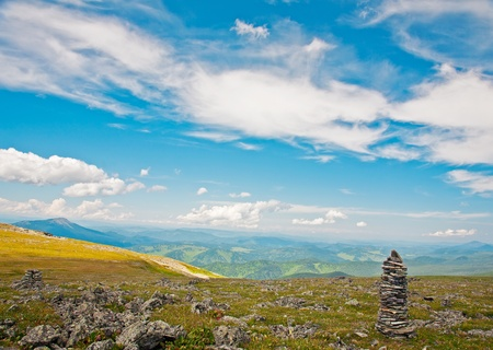 siberia: View from mountains peak. Altai, Siberia