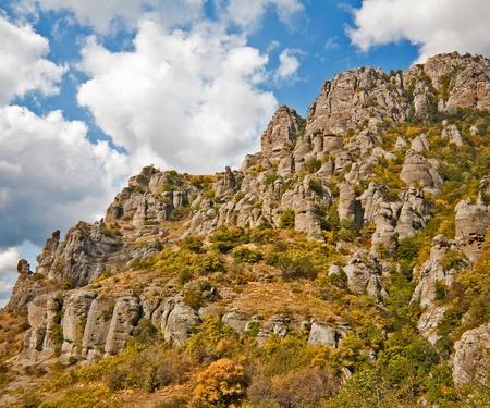 Autumn in mountains. Crimea. Mountain Southern Demerdzhi. Stock Photo - 10788343