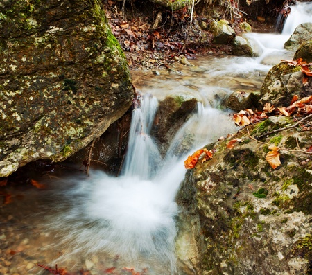 waterfalls in mountains. Stock Photo - 10788351