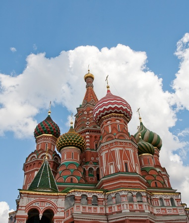 Cathedral of Vasily the Blessed in the Heaven Stock Photo - 10788406