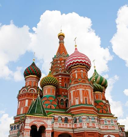 Cathedral of Vasily the Blessed in the Heaven Stock Photo - 10890939