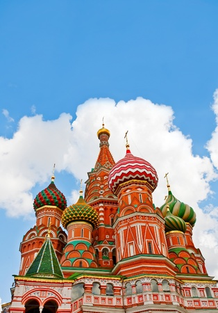 vasily: Cathedral of Vasily the Blessed in the Heaven Stock Photo