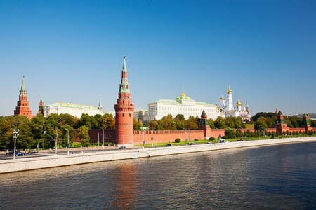 Russia, Moscow, type to the Moscow Kremlin and the river Stock Photo - 10890918
