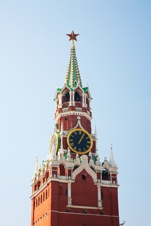 spassky: Russia, Moscow. Spassky Tower of Moscow Kremlin.