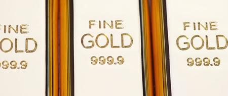 fine gold: Fine gold 999,9. Set of gold ingots.