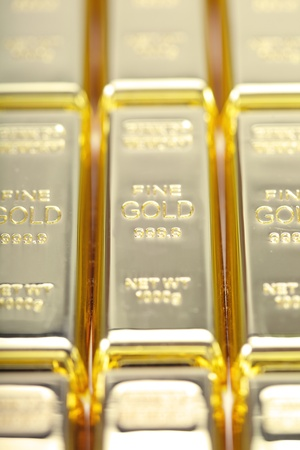 Fine gold 999,9. Set of gold ingots. Stock Photo - 11074012