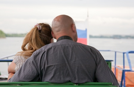 married couple goes for a drive on the walking steam-ship photo