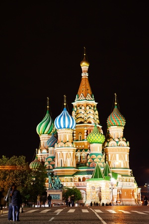 St Basil's Church on the Red Square in Moscow photo