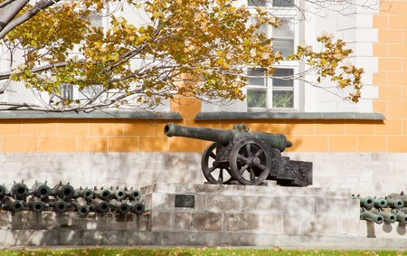 arsenal: Ancient gun near the Arsenal in territory of the Moscow Kremlin