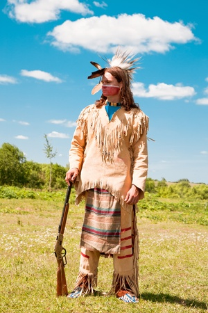 swarty: North American Indian in full dress. Reconstruction