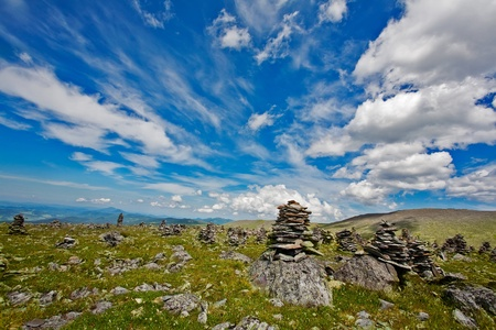 Mountain Altai. A beautiful landscape with stones and the blue sky. Stock Photo - 12081461