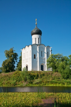 nerl: Church of Intercession upon Nerl River. (Bogolubovo, Vladimir region, Golden Ring of Russia) Inscribed in the Wold Heritage List of UNESCO