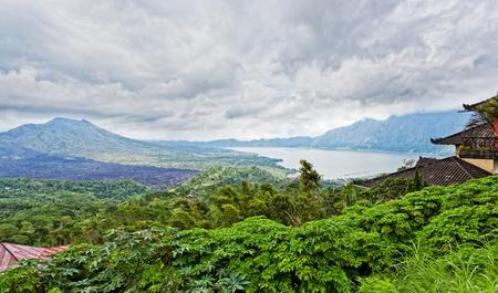 Landscape of Batur volcano on Bali island, Indonesia photo