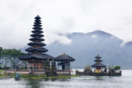 Ulun Danu temple Beratan Lake in Bali Indonesia  Stock Photo - 13608664
