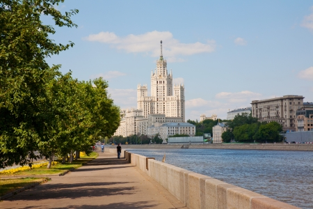 High-rise building on Kotelnicheskaya embankment in Moscow, Russia   Stock Photo - 13812908