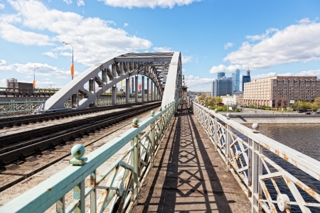 Russia, Moscow, view of Luzhnetsky Bridge in a sunny weather Stock Photo - 14216122