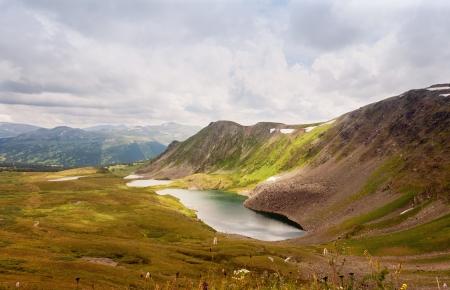 to altai: Top view of Karakol lakes in Altai mountains. Altai, Suberia  Stock Photo