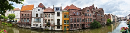 Channel in center of Ghent, Belgium photo