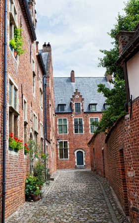 leuven: Ancient architecture of Belgium, leuven begijnhof Stock Photo