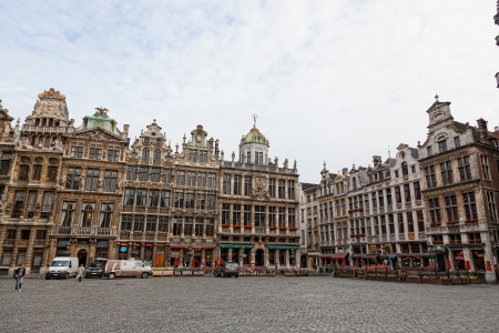 egmont: BRUSSELS, BELGIUM - JUNE 7: A panoramic view to Grandee Plas square , on June 07, 2012 in Brussels, Belgium. These sights of Brussels are well-known for that some last days of the life count Egmont Lamoral (1522-1568) and Philippe de Monmoransi of the col