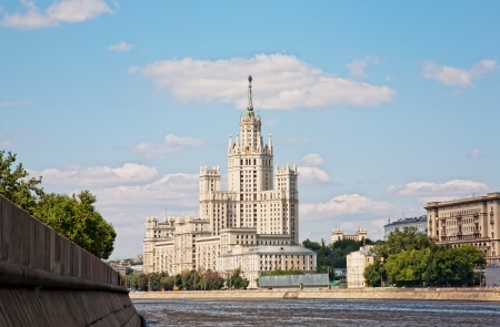 High-rise building on Kotelnicheskaya embankment in Moscow, Russia.  Stock Photo - 15102981