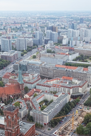 View of Berlin from an observation deck of the Berlin television tower Stock Photo - 15636553