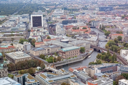 View of Berlin from an observation deck of the Berlin television tower Stock Photo - 15636537