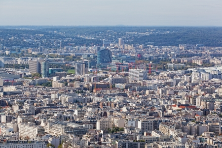 View of Paris from height of birds flight photo