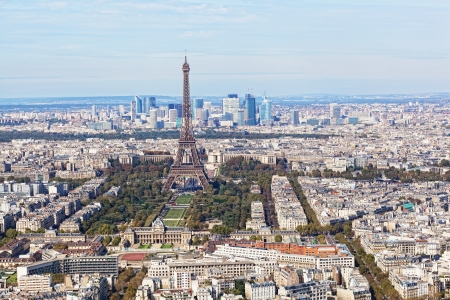 birdseye view: Aerial view of Paris  Stock Photo