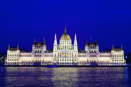Parliament of Budapest, Hungary at night  Stock Photo - 16034579