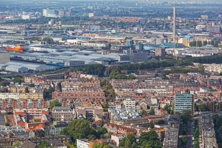 bird 's eye view: View of Rotterdam from height of bird
