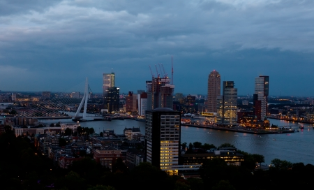 View of Rotterdam from height of bird photo