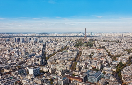 Aerial view of Paris photo