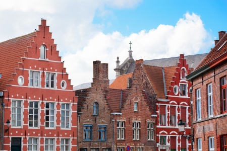 Architecture of the medieval city of Bruges, Belgium photo