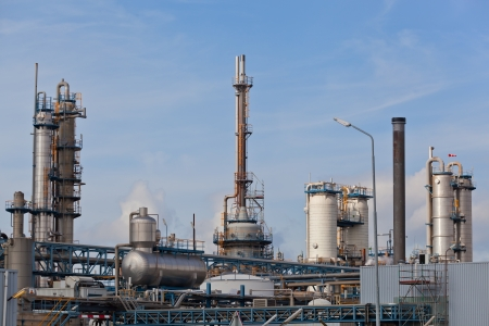 View of big oil refinery of a sky background  photo